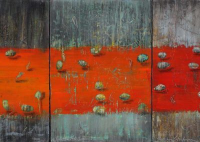 CAPTURED EMBANKMENTS ( S O L D ) | 180x75cm | Acrylic and oil on canvas
